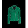 Parigi green suede leather